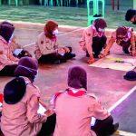 Pramuka Saka Wira Kartika Kodim 0702/Purbalingga Berlatih Tekpram